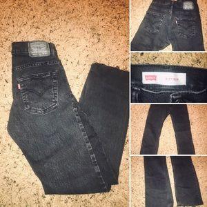 vintage black acid levi's jeans